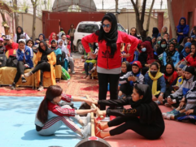 Mas-Wrestling competition among women was held in Kabul, Afghanistan